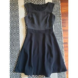 J.Crew polka dot and black dress